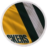 Green Bay Packers Uniform Round Beach Towel