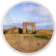 Grosnez Castle - Jersey Round Beach Towel