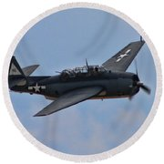 Grumman Tbm-3e Avenger Round Beach Towel by Tommy Anderson