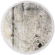 Grunge Concrete Texture Round Beach Towel