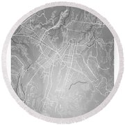 Guatemala Street Map - Guatemala City Guatemala Road Map Art On  Round Beach Towel