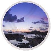 Guernsey Sunset Round Beach Towel