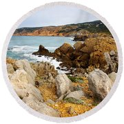 Guincho Cliffs Round Beach Towel
