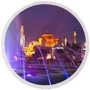 Hagia Sophia - Istanbul Round Beach Towel