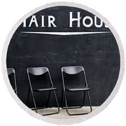 Hair House Round Beach Towel
