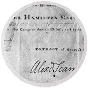 Hamilton: Appointment, 1777 Round Beach Towel