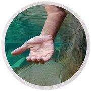 Hand Round Beach Towel
