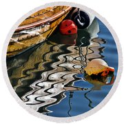 Harbour Reflections Round Beach Towel
