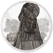 Harriet Tubman, American Abolitionist Round Beach Towel
