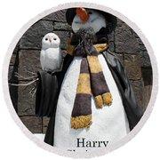 Harry Christmas Round Beach Towel