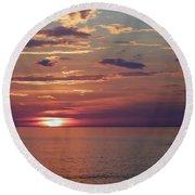 Harvest Sunset Round Beach Towel
