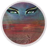 Hathor Round Beach Towel
