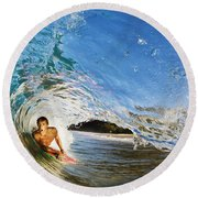 Makena Boogie Boarder Round Beach Towel