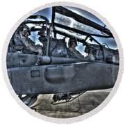 Hdr Image Of Pilots Equipped Round Beach Towel