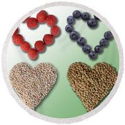 Heart-healthy Foods Round Beach Towel