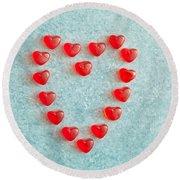 Heart Shape Round Beach Towel