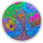 Hearts Of Nature Round Beach Towel