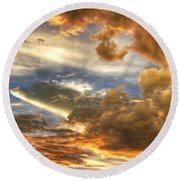 Heavenly Skies  Round Beach Towel