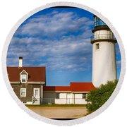 Highland Lighthouse Round Beach Towel