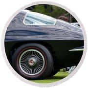 Classic Corvette Round Beach Towel