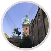 Historic Centre Cracow Poland  Round Beach Towel