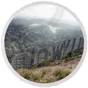 Hollywood Sign Round Beach Towel