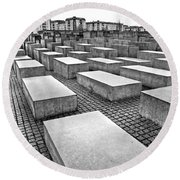 Holocaust Memorial - Berlin Round Beach Towel