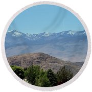 Home Is Nevada Round Beach Towel