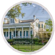 Home On St. Charles Ave - Nola Round Beach Towel