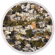 Homes Of San Francisco Round Beach Towel