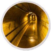 Hoover Dam Tunnel Round Beach Towel