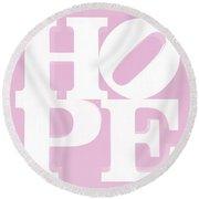 Hope Inverted Pink Round Beach Towel