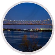 Horace Wilkinson Bridge Round Beach Towel