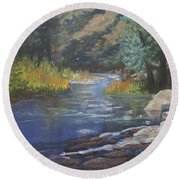 Horse Creek Round Beach Towel