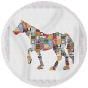 Horse Ride Showcasing Navinjoshi Gallery Art Icons Buy Faa Products Or Download For Self Printing  N Round Beach Towel
