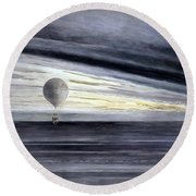 Hot Air Balloon, 1875 Round Beach Towel