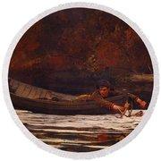 Hound And Hunter 1892 Round Beach Towel