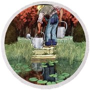House And Garden Spring Gardening Guide Cover Round Beach Towel