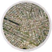 Housing Development, Florida Round Beach Towel