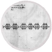 Hudson River: Chain, C1778 Round Beach Towel