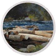 Hudson River Round Beach Towel by Winslow Homer