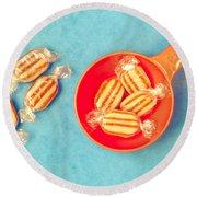 Humbug Sweets Round Beach Towel