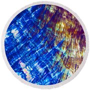 Hydroquinone Microcrystals Color Abstract Art Round Beach Towel