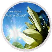 1 I Am With You Always Round Beach Towel