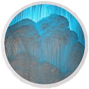 Ice Rising Round Beach Towel