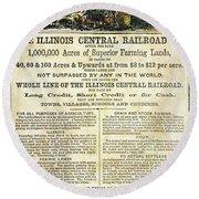 Illinois Railroad Company Round Beach Towel