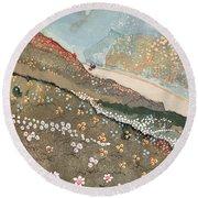 Illustration For Kim By Rudyard Kipling Round Beach Towel