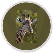 I'm All Ears - Giraffe Round Beach Towel
