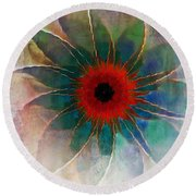 In Glass Round Beach Towel