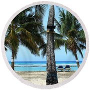 In The Middle Round Beach Towel
